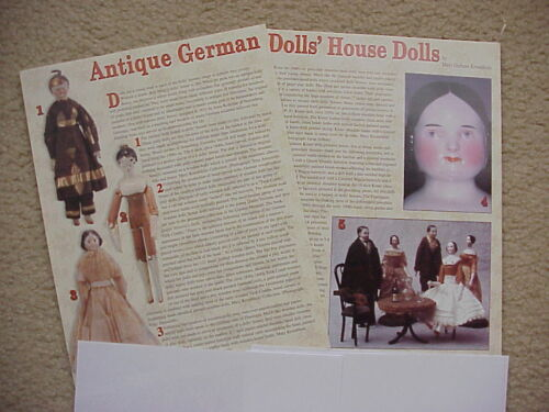 13p History Article Antique German Dollhouse Dolls