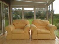 2 Yellow Armchairs