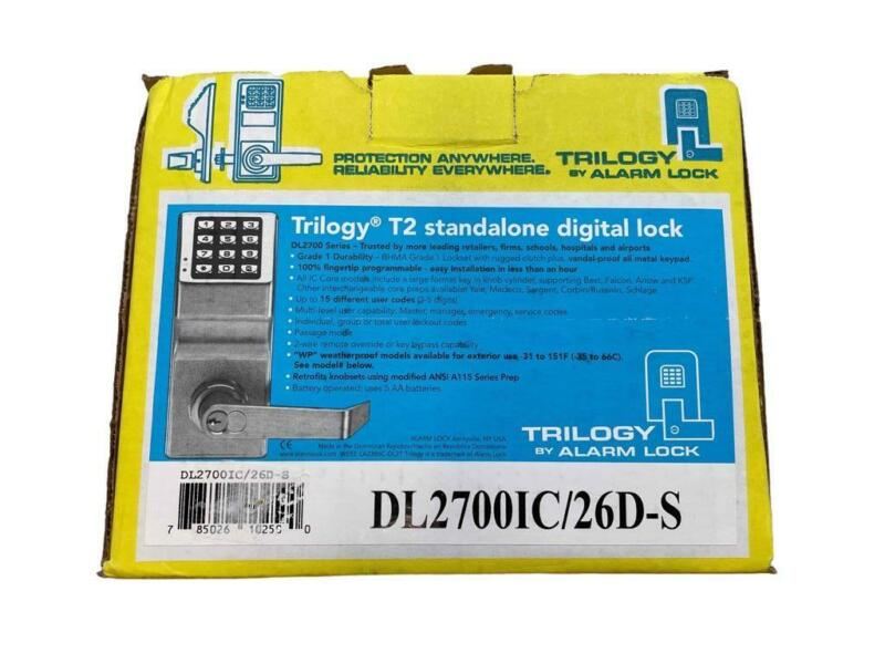 NEW Trilogy Alarm Lock T2 Standalone Digital Door Lock DL2700IC/26D-S