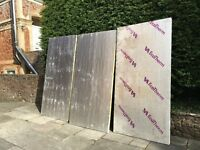 Three x 50mm sheets of Cellotex type insulation. 2400mm X 1200mm