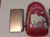 Nintendo DS Lite Pink with Hello Kitty carry case