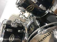 Millenium Black drum kit.