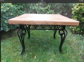 Refurbished solid wood coffee table