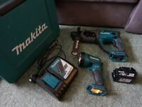 Makita 18v LXT Cordless SDS+ Hammer Drill Set Very Good Condition !!