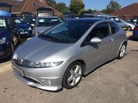 2006/56 HONDA CIVIC 1.8 i VTEC TYPE S GT 3 DOOR SILVER, STUNNING LOOKS,DRIVES WELL