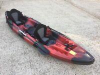 Brand new double fishing kayak, sea, Cambridge Kayak