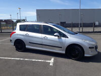 2009(09)PEUGEOT 308 1.6 HDi SW ESTATE MET SILVER,BIG MPG,AIRCON,ALLOYS,CLEAN CAR,GREAT VALUE
