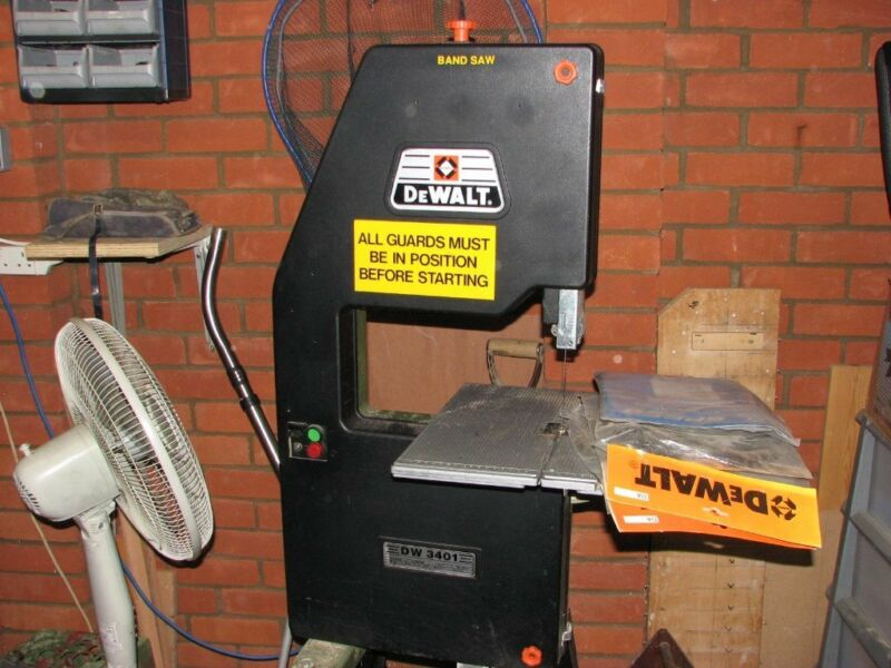 Dewalt DW 3401 woodworking two wheel bandsaw with stand and spare blades for sale  Norwich, Norfolk