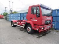 2004 MAN 15 ton chassis cab 220 HP engine, steel suspension, manual gearbox