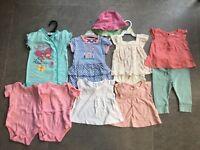 Girls 3-6 Month 10 Piece Bundle Summer