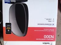 BNIB BOX BELKIN N300 WIRLESS MODEM ROUTER - WITH RECEIPT £10