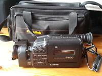 Canon E400 Camcorder with storage bag