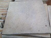Garden slabs 450x450 sandstone buff