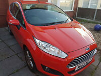 Ford Fiesta 3 door hatchback Red 1.25 Petrol 2013 29000miles