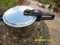 Pressure Cooker. 6l Stainless Steel. Tefal. See Snaps for condition