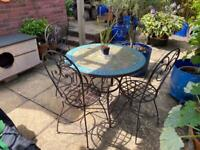 Authentic Moroccan Mosaic garden table with 4 chairs