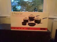 Set of five non-stick Meyer pans