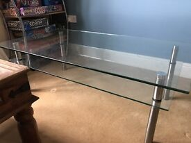 Dansk glass coffee table