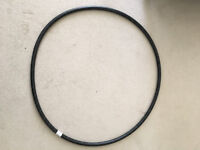Black weighted 100cm dance hula hoop for fitness and exercise