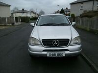 **PRICE REDUCED**MERCEDES ML270 CDI AUTO 7 SEATER 12 MONTH MOT 12 DISC CD CHANGER MINI TVS FITTED
