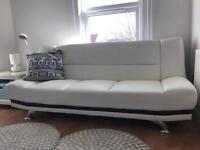 Sofa bed faux leather, perfect condition