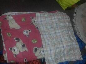 Teddy pinkish duvet cover set