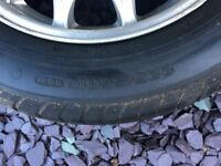 4 Mercedes Alloys with tyres 225/55/r16/95w all used