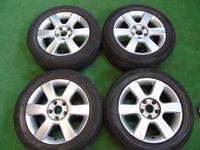 """VW GOLF MK5, SHARAN, PASSAT, TOURAN, CADDY, T4, SKODA 16"""" ALLOY WHEELS"""