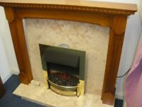 ELECTRIC FIRE AND FULL SURROUND