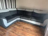 SCS storm grey corner sofa
