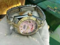 LADIES Rolex Datejust Pink Dial two tone