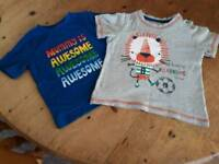 2 Baby's T Shirts. Size 9 - 12 Months.