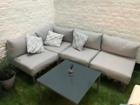 4-seater modular outdoor sofa set