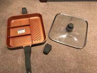 *BRAND NEW* QuadraPan Professional 32cm cooking pan W/glass lid