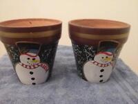 Snowman Plant Pots