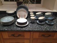 Denby Blue Jetty Stoneware Crockery Set (4 piece setting)