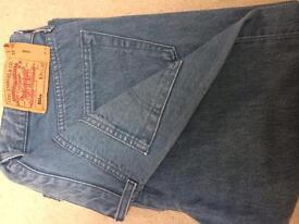 Vintage / original Levi's men's button fly 501xx light blue