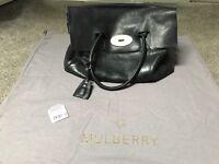Genuine mulberry bayswater black leather handbag