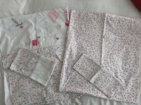 Cotbed bedding, White Company & Mothercare