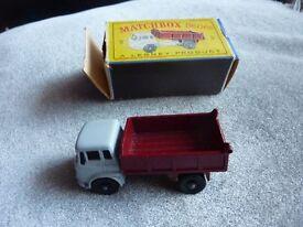 Matchbox Regular Wheels 3 Bedford Tipper, Maroon with black plastic wheels