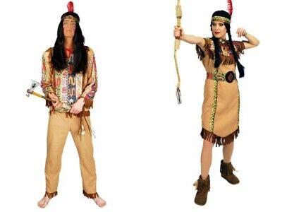 Kostüm Indianer Herren Damen Indianerin Indianerkostüm Gr.M-3XL Wilder - Wilder Westen Damen Kostüm