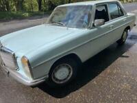 W115 Classic Mercedes Benz 230 petrol 1973 manual 4box Mot and tax exempt