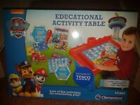 Educational activity table - clementoni, paw patrol New !!!