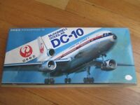 Hasegawa Plastic Aircraft Model Kit, Japan Airlines McDonnell Douglas DC-10, Scale 1/200