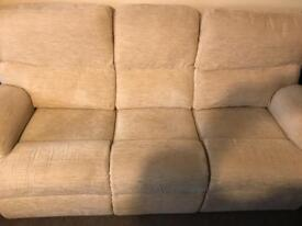 3 seater sofa + electric recliner chair