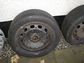 """15"""" WinterTyres On Ford Rims"""