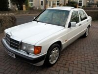 Mercedes 190E 2.6 Auto – 1992 – Arctic White - FSH - Leather - 12 Months MOT -Excellent Condition