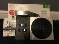 Xbox 360 Dj Hero 2 Turntable & Game