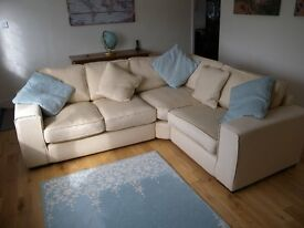 Corner Sofa - Tesco Omega fabric RHF natural