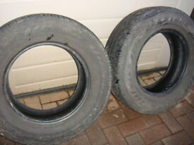 Tyres 215 70 15 Van Tyres £20 for 1 (other tyre free will do as a spare).